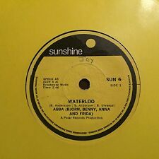 "Bjorn, Benny, Anna & Frida (ABBA) - - WATERLOO - Rare South African 7"" SUNSHINE"