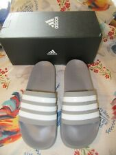 NIB Men's Adidas Gray Adilette Shower Slides Sandals 7