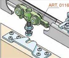 RONIN® Schiebetürbeschlag 40 KG Alu-Schiene 110cm Schiebetür Türbreite 51-60 cm