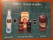 Tin Sign Vintage Fallout 3 The Recipe For Success