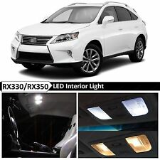 19x White Interior LED Lights Package Kit for 2010-2015 RX350 RX450H