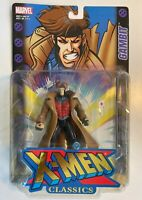 MIP VINTAGE TOY BIZ MARVEL 2000 GAMBIT FIGURE X-MEN CLASSICS Throwing Action!