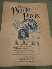 March of the Goblins Four Picture Pieces Sheet Music 1911 B Anthony Vintage
