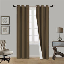 2 PANELS GROMMET WINDOW CURTAIN DRAPE FOAM LINED BACKING BLACKOUT THERMAL K92