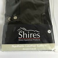 New & Tags Shires Medium Adult Synthetic Leather Gaiters Brown + Wiggle Boot Bag