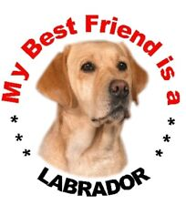 2 Yellow Labrador Car Stickers By Starprint - Auto combined postage