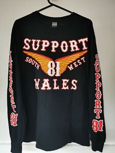 Support 81 Wings Long Sleeve T-Shirt with printed sleeves