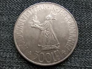 Romania Bessarabia Reunion 500 Lei .835 Silver Coin 1941