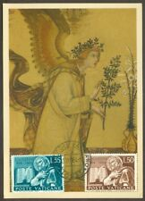 Vatican City Sc#187-8: 16th Centenary of Birth of St. Augustine on Maxi Card