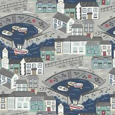 1/2 Mt Lewis and Irene Patchwork Fabric A175.3 - Harbour Side Navy Sea
