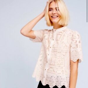 floreat Lace Top By anthropologie