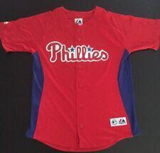 Chase Utley #26 Philadelphia Phillies Majestic Youth Jersey Size Large NWOT