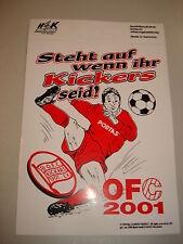 RARITÄT!Aufkleber Steht auf wenn Ihr Kickers seid Kickers Offenbach ca. 12x18 cm