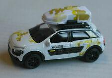 Majorette Citroen C4 Cactus weiß mit Gepäckträger und Dachbox PSA Explorer white