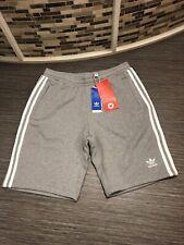 adidas Originals 3 Stripes Shorts in Grey Heather - cotton