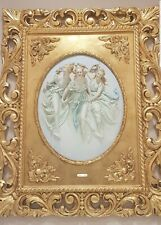 Capodimonte porcelain. Painting relief, bas-relief. The three Thank you