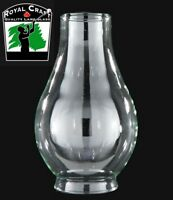 "2"" X 5 3/8"" ~ Clear GLASS Oil Lamp CHIMNEY ~ Fits Cuddy Dual #2 Burners ~ #G7961"