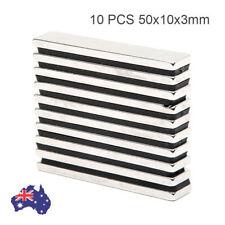 10 PCS N50 50x10x3mm Strong Block Disc Neodymium Magnets Rare Earth Experiment