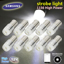 10x High Power White 1156 7506 P21W LED COB Bulb Car Backup Reverse Strobe Light