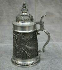 Dnl Pewter Ritter Stein w/ Wildlife Panels