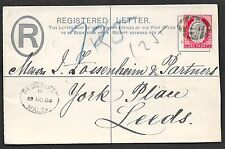 Malta covers 1904 R-cover to Leeds