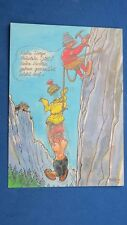 Risque Comic Postcard 1980s Large Boobs Climbing Mountaineering Rope Knot Theme