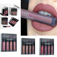 4Pcs Huda Lipstick Matte Liquid Waterproof Lip Stick Gloss Beauty Makeup