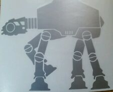 Star Wars Imperial AT AT AT-AT Walker Logo WHITE cut vinyl sticker decal custom.
