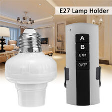 E27 Screw Wireless Remote Control Switch Light Lamp Bulb Holder Cap Socket 220V