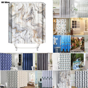 Modern Waterproof Fabric/PEVA/EVA/PVC Shower Curtain Large Bathroom Decoration