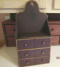 New listing Vintage Wooden Apothecary Box -  00004000 6 Drawer - Actually 3 Large Drawers