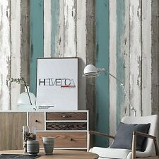 Blooming Wall Peel and stick Distressed Wood Panel Wallpaper,Gray Multicolor