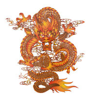 pyrography 27*25cm china dragon heat transfer iron on patches for clothes diy E&