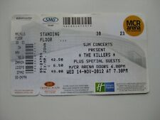 THE KILLERS  MANCHESTER  14/11/2012  OLD TICKET