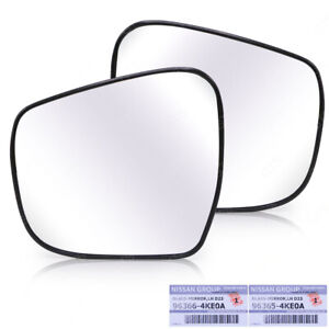 Lh+Rh Glass Len Mirror Side Wing For Nissan NP300 D23 Single Cab 2015 2020