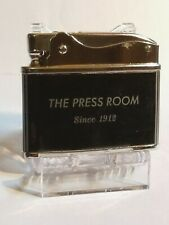 Vintage Lighter ad/ The Press Room Since 1912, Black Finish, Working Condition