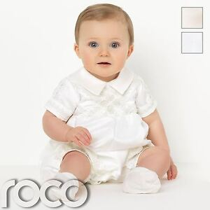Baby Boys Romper Suits, Boys Christening Outfits, Boys Christening Suits