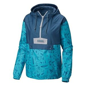 Columbia PNW Blue Flashback Windbreaker Womens Jacket Medium lightweight