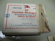 MONTREAL GENUINE  SOUVENIR  20  SILVER  GELATIN PHOTOGRAPHS