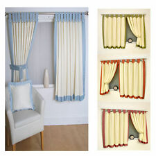 Polyester Contemporary Solid Tab Top Curtains & Pelmets