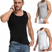 Men's Gym Singlet Training Bodybuilding Tank Top Vest Sleeveless Fitness Shirt