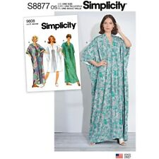Simplicity 8877 Paper Sewing Pattern Misses One Size Xs-Xl Caftan 2 Lengths