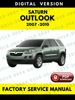 Saturn Outlook 2007 2008 2009 2010 Workshop Factory Service Repair Manual