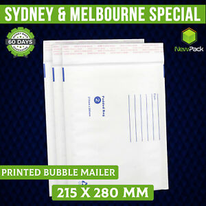 200x Bubble Mailer 02 215X280MM Padded kraft Bag Envelope 215mm x 280mm Size
