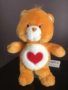 "2002 Play Along TCFC Care Bears Brown Tenderheart Bear 13"" Plush Stuffed Animal"