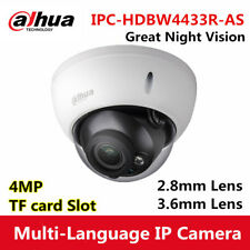 Dahua Ipc-Hdbw4433R-As Tri-Axis 4Mp Poe Micro Sd Alarm Audio Ir Dome Ip Camera