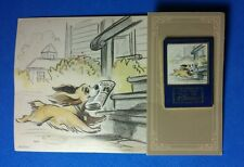 Lady Japan Disney Mall Art of Disney Pin and Card RARE Lady and Tramp