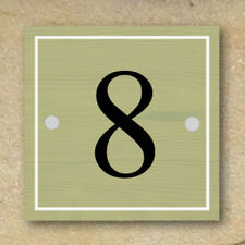 Personalised Metal House Number Sign,Vintage Wooden Style, Square,No maintenance