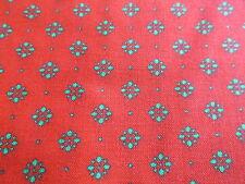 Red Christmas cotton fabric craft weight green design hald yard cut 1/2