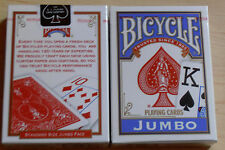 6 NEW DECKS BICYCLE PLAYING POKER CARDS JUMBO FACE